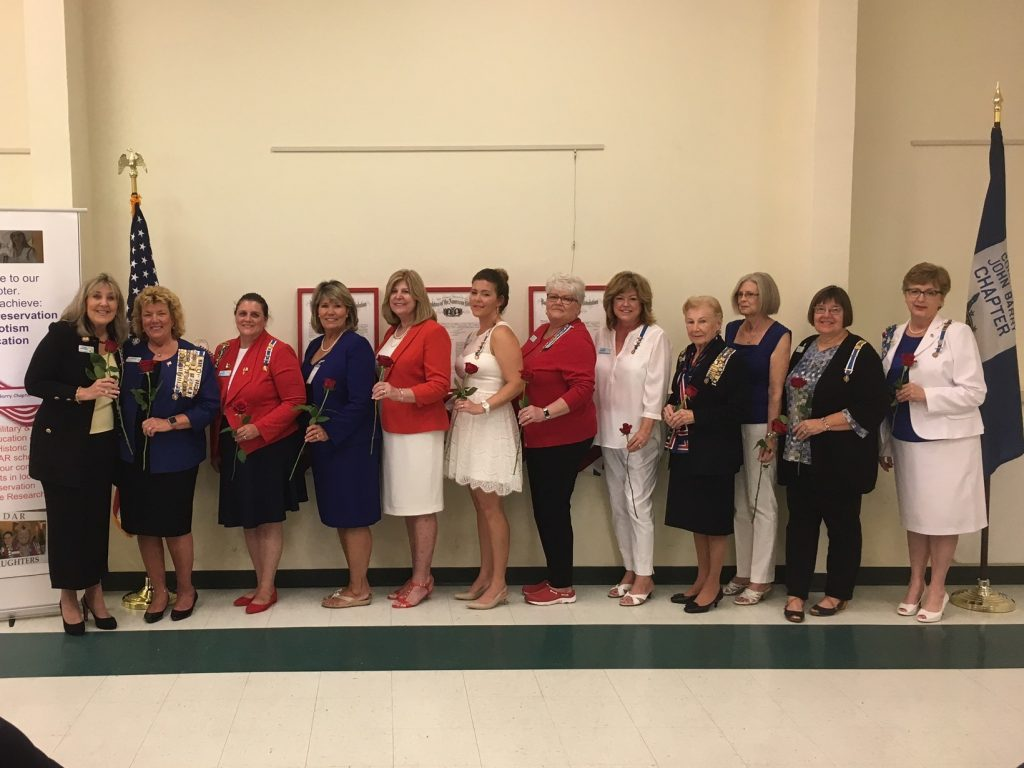 DAR new officers May 2017 with Cindy